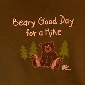 Beary Good Day for a Hike w/bear, Toddler Tee, NWT